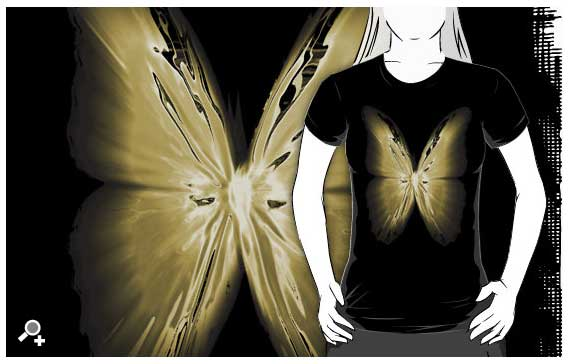 DLKeur butterfly tee-shirt art